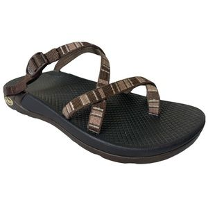Chaco Brown Sz 8 Slide On Strap Flat Sandals